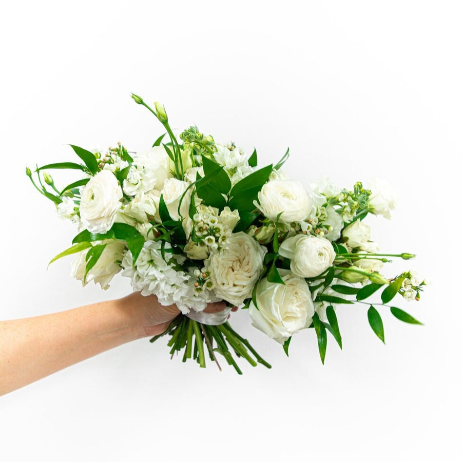 White and Green | Bridal Bouquet | HexBee - Lizzie Bee's Flower Shoppe