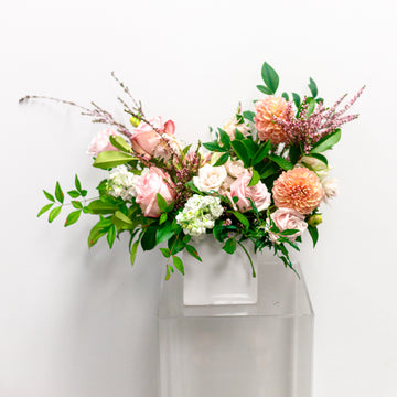 Sweet as Honey - Florist Design in White + Blush | Fresh Arrangement - Lizzie Bee's Flower Shoppe