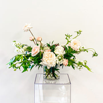 Luscious Lizette - Valentine's Day Arrangement in Blush + Ivory