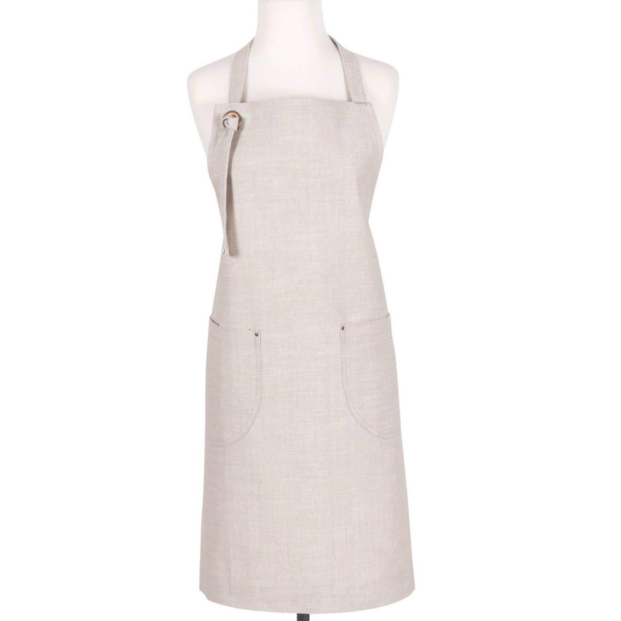 Chambray Apron in Linen | Aprons - Lizzie Bee's Flower Shoppe