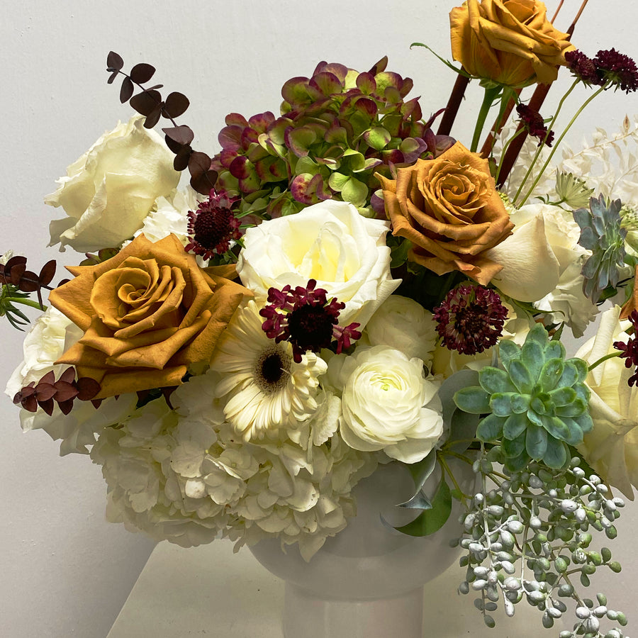Florist Design: Thanksgiving Centerpiece PRE-ORDER | Local Arrangements - Lizzie Bee's Flower Shoppe