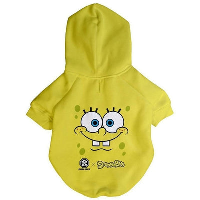 Spongebob x Fresh Pawz - SB Face Hoodie | Dog Clothing - Toys For A Pet