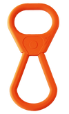 SP Pop Top Rubber Tug Toy for Interactive Play - Orange Squeeze - Toys For A Pet