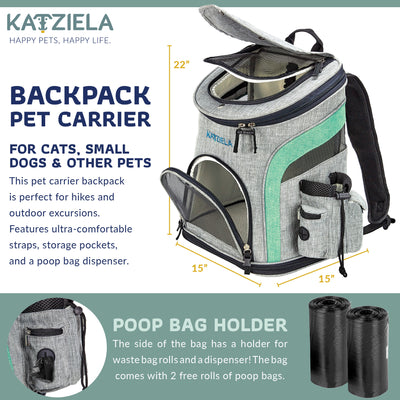 Katziela  Airline Approved Backpack for Pets - Toys For A Pet