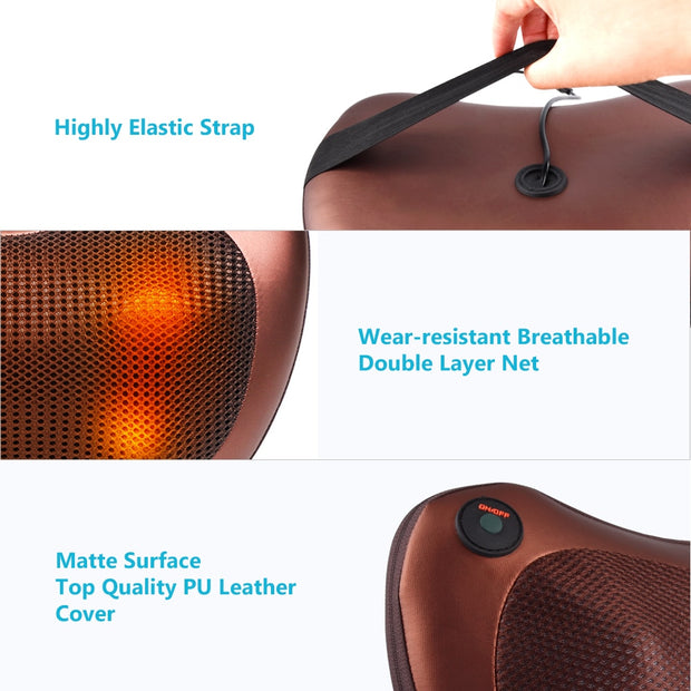HEATED MASSAGER PILLOW