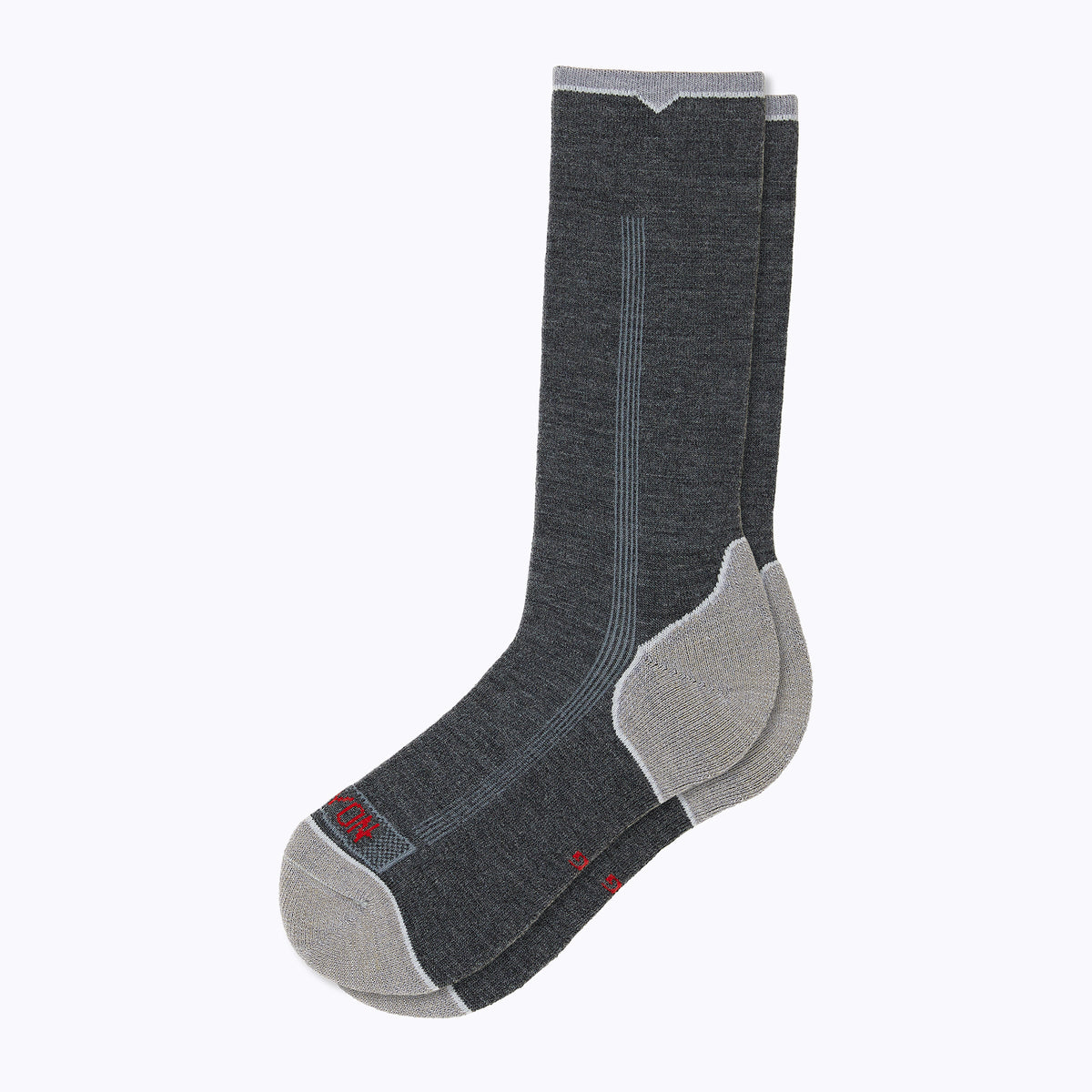 Destination Men's Crew Socks - Storm Grey by Canyon Socks
