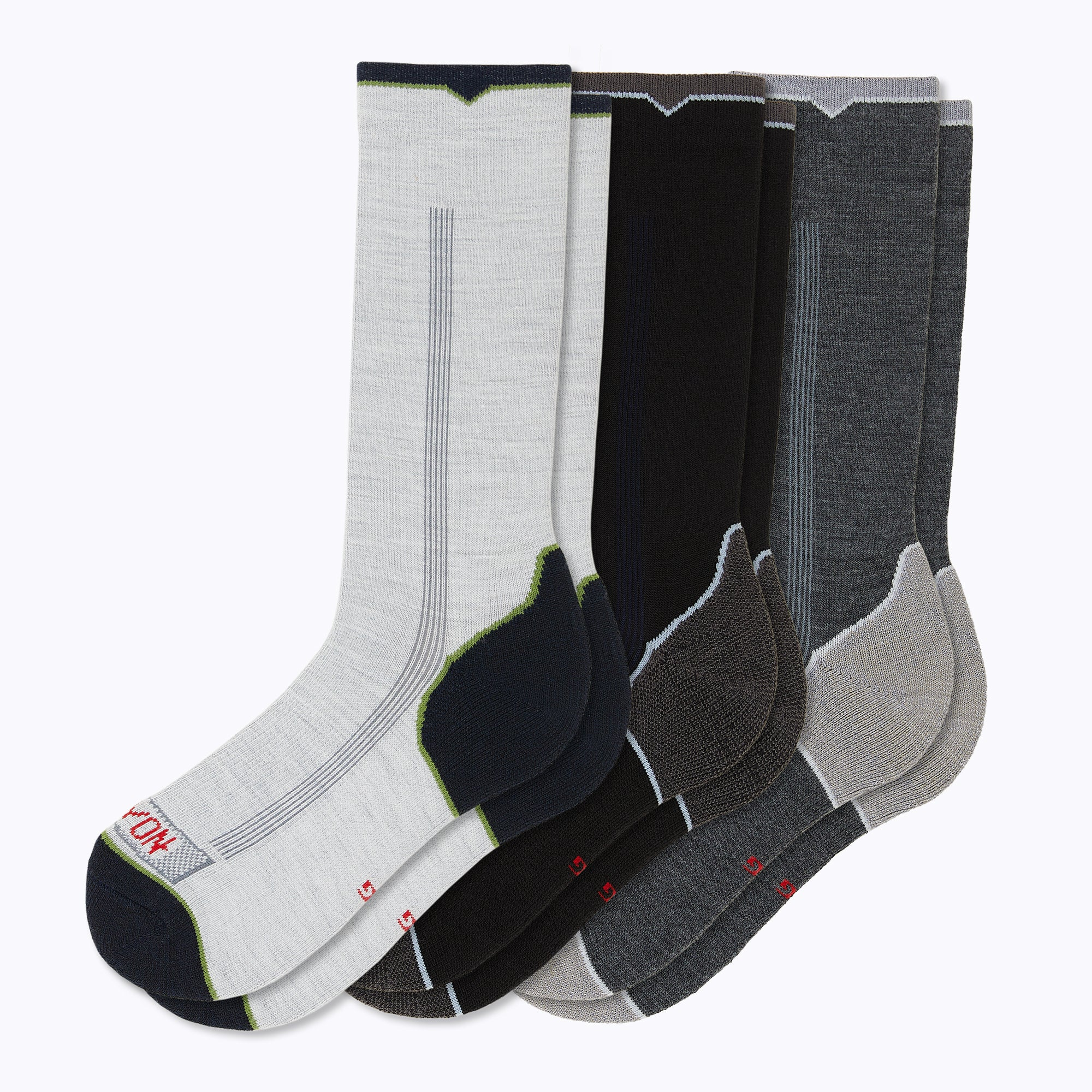 Destination 3 Pack Mix Men's Crew Socks - Mix by Canyon Socks