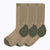 Americana 3 Pack Men's Crew Socks - Sand + OD Green by Canyon Socks