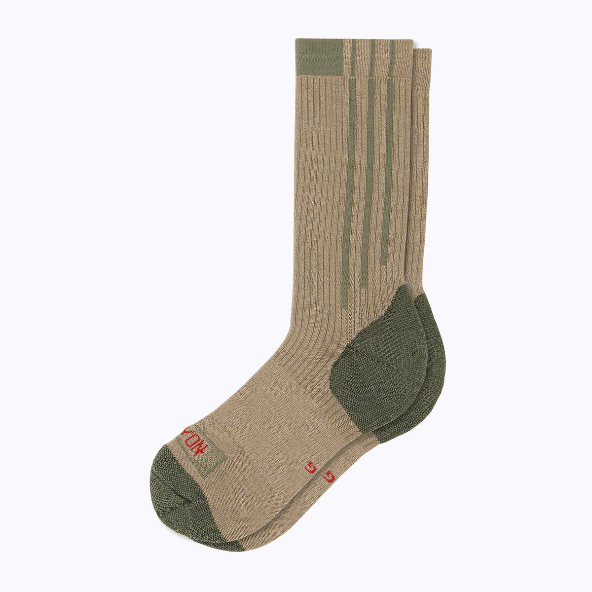 Americana Men's Crew Socks - Sand + OD Green by Canyon Socks