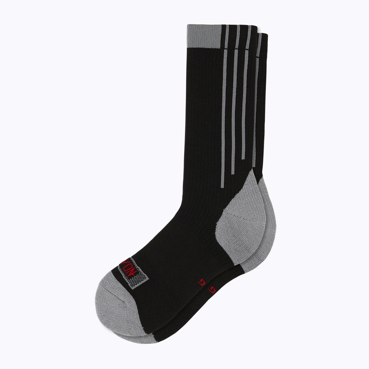 Americana Men's Crew Socks - Black + Wolf Grey by Canyon Socks