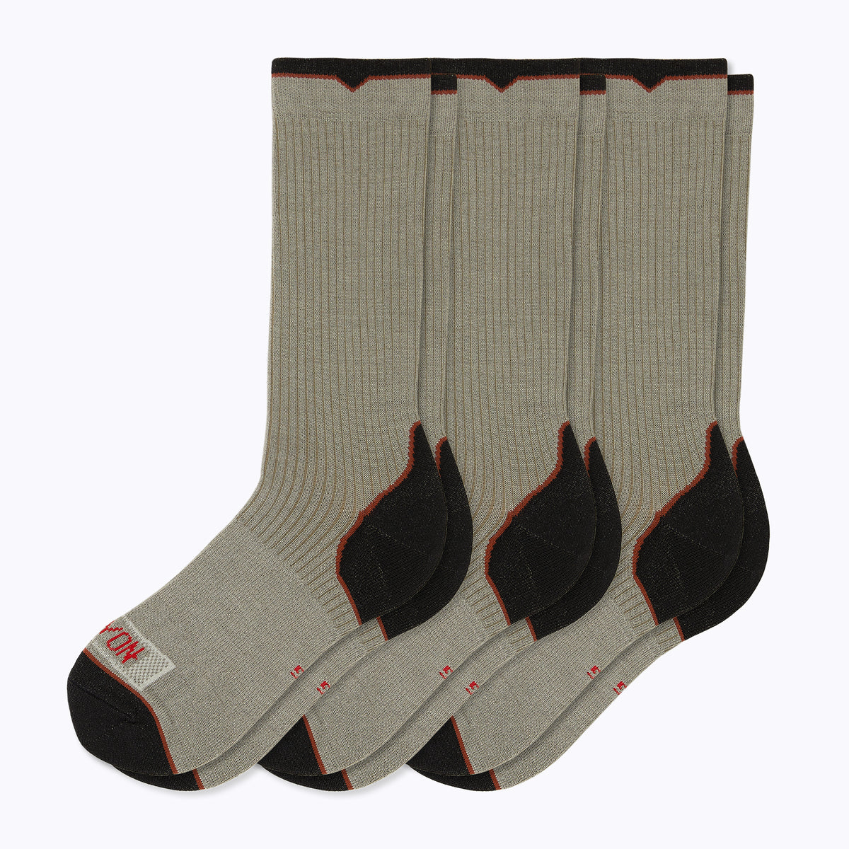 Essential 3 Pack Men's Crew Socks - Sand by Canyon Socks