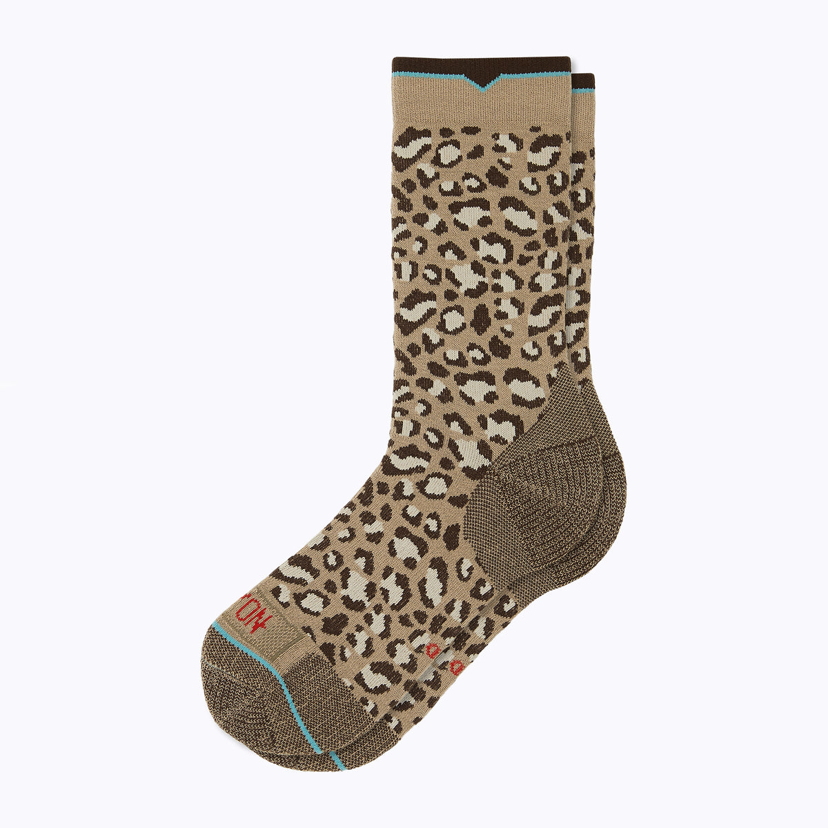 Leopard Women's Crew Socks - Sand by Canyon Socks