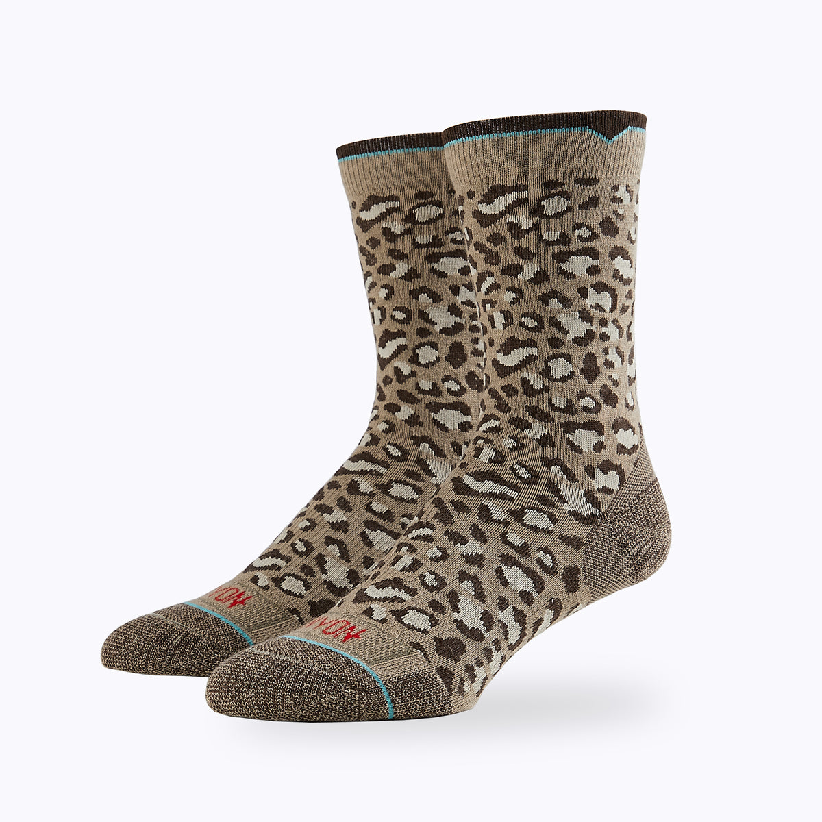 Leopard 2 Pack Mix Women's Crew Socks -  by Canyon Socks