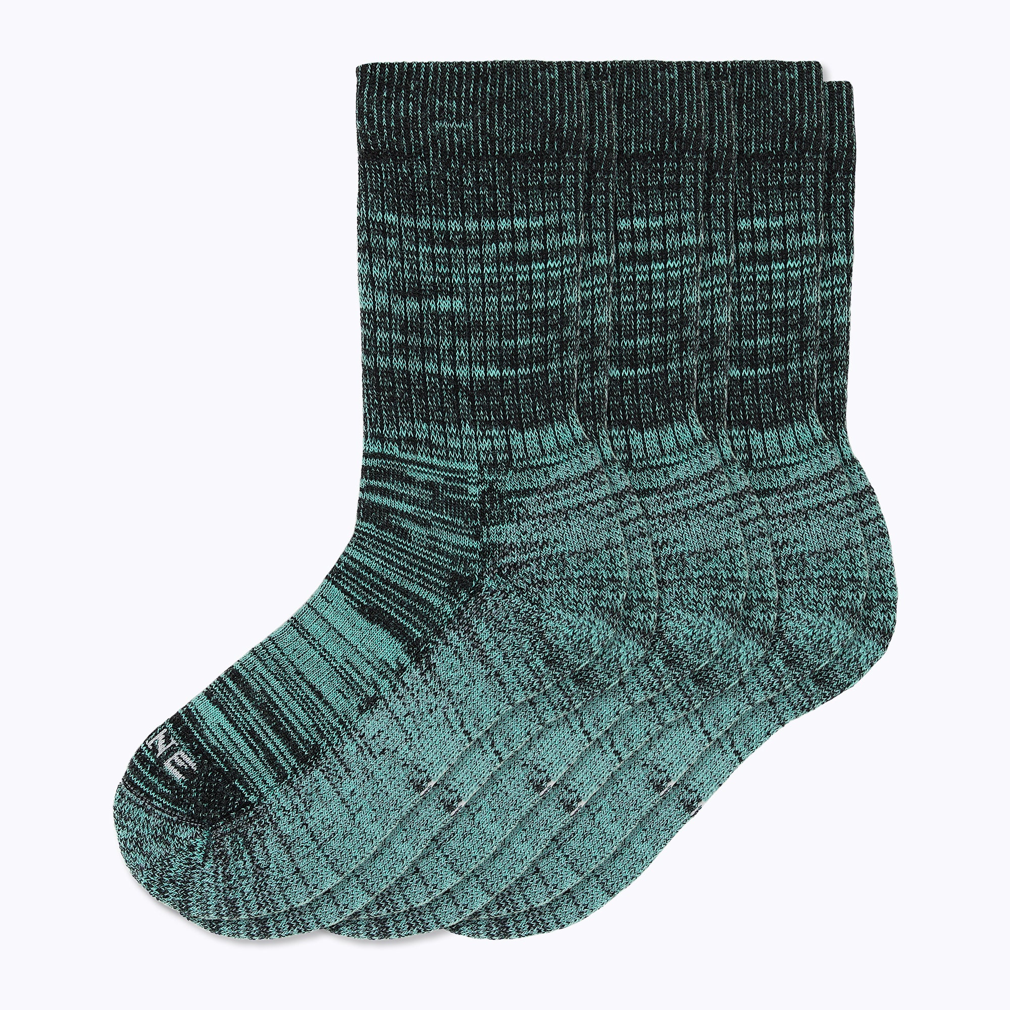 Kelsey 3 Pack Women's Crew Socks - Turq + Black by Canyon x Lane Socks