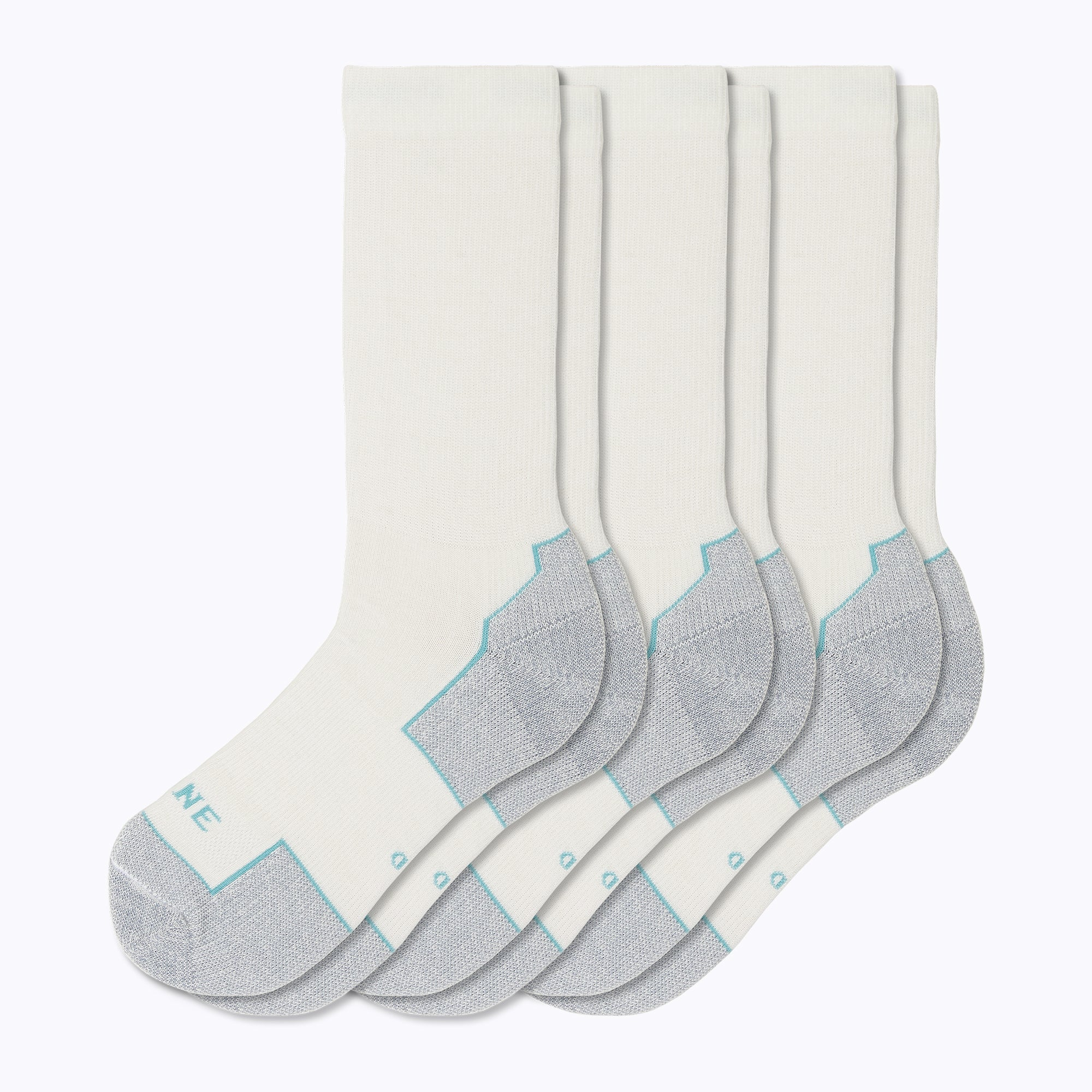 Everyday 3 Pack Women's Mid-Calf Socks - White by Canyon x Lane Socks