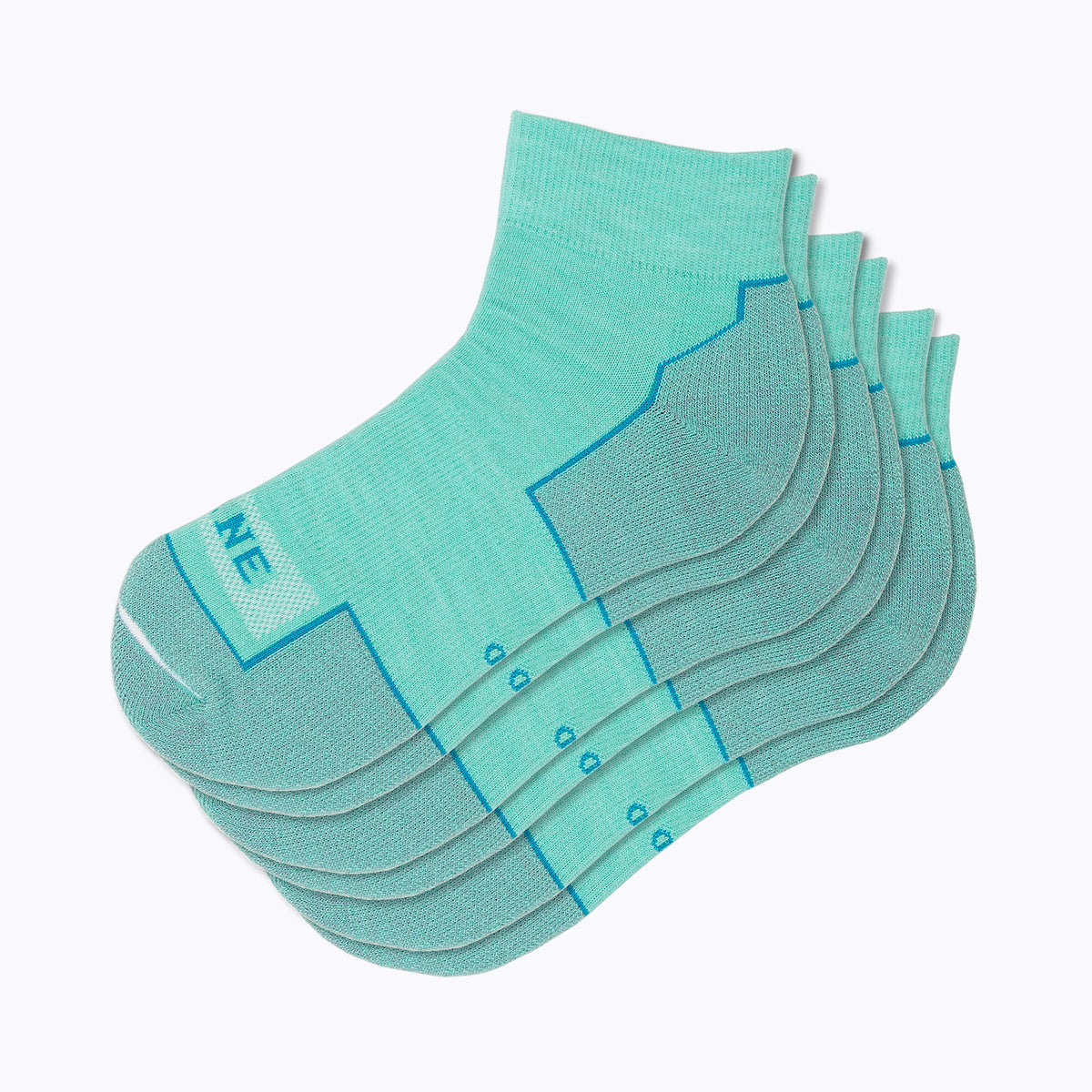 Everyday 3 Pack Women's Qtr Socks - Turq by Canyon x Lane Socks