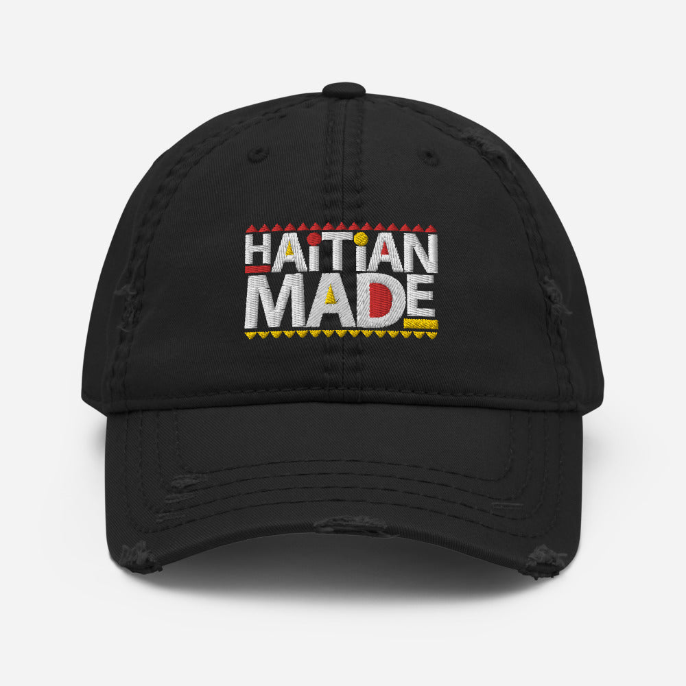 Haitian Made - [Yellow/ Red] - Distressed Dad Hat