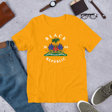 Load image into Gallery viewer, Haitian Coat of Arms - Unisex T - Shirt