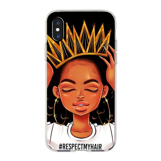 Melanin Queens iPhone Cases - Respect the Hair