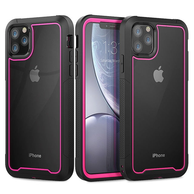 Shockproof Hybrid Silicone Bumper iPhone Cases