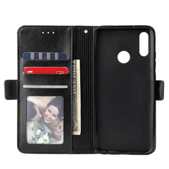 Huawei Leather Zipper Wallet Phone Case - Black
