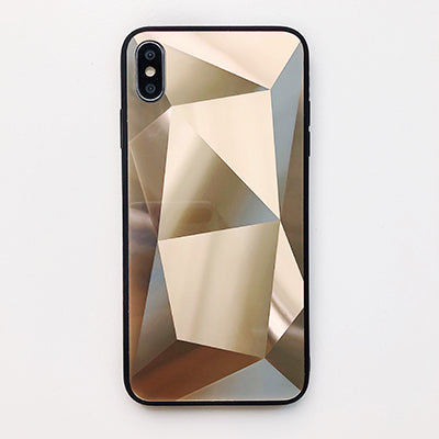 Diamond Mirror Shockproof iPhone Ultra Thin Case - Gold