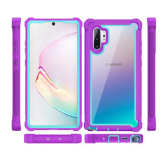 Samsung Galaxy Shockproof Cases w/ Screen Protector - Light Blue/Pink