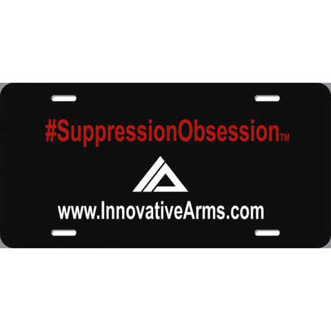 Suppression Obsession Auto Plate