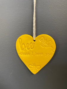 Wall art hanging - Because I love you
