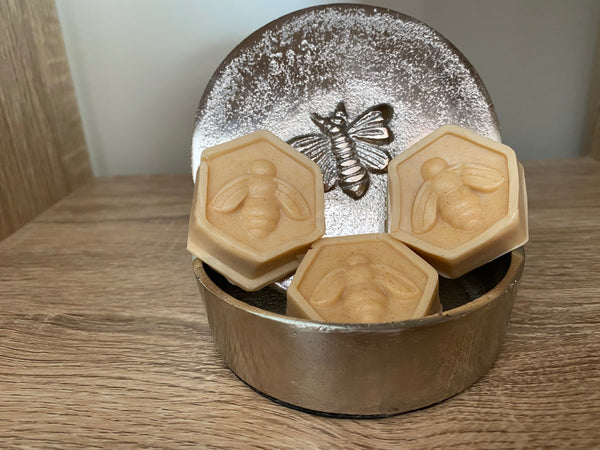 Small Bee & Honeycomb Squishy Soap for Kids - Set of 3