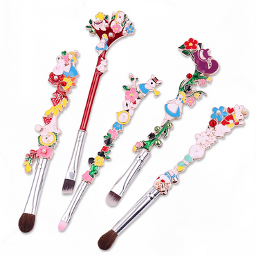 Alice In Wonderland Makeup Brush 5 Piece Set