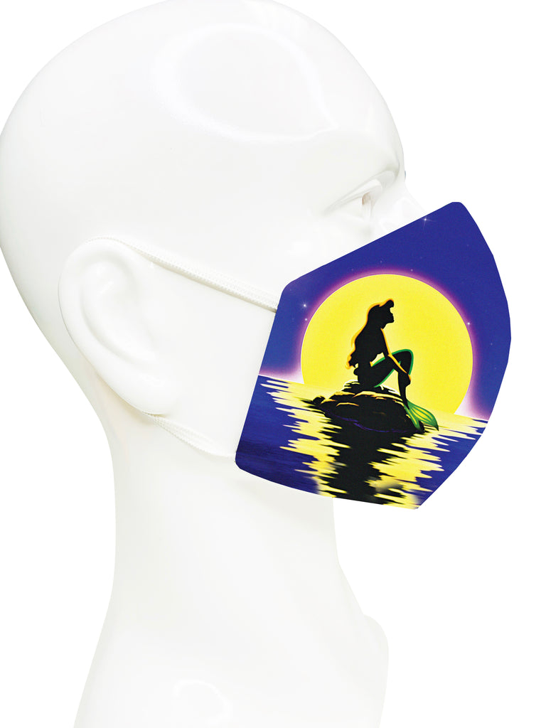 Little Mermaid Silhouette Face Mask