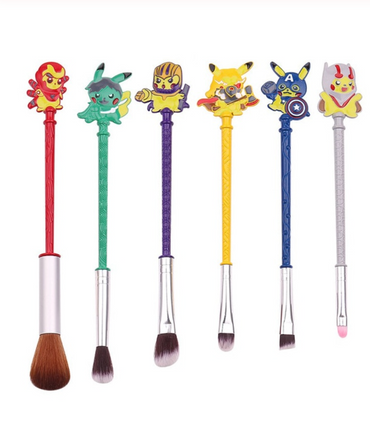 Pokemon Makeup Brush 6 Piece Set