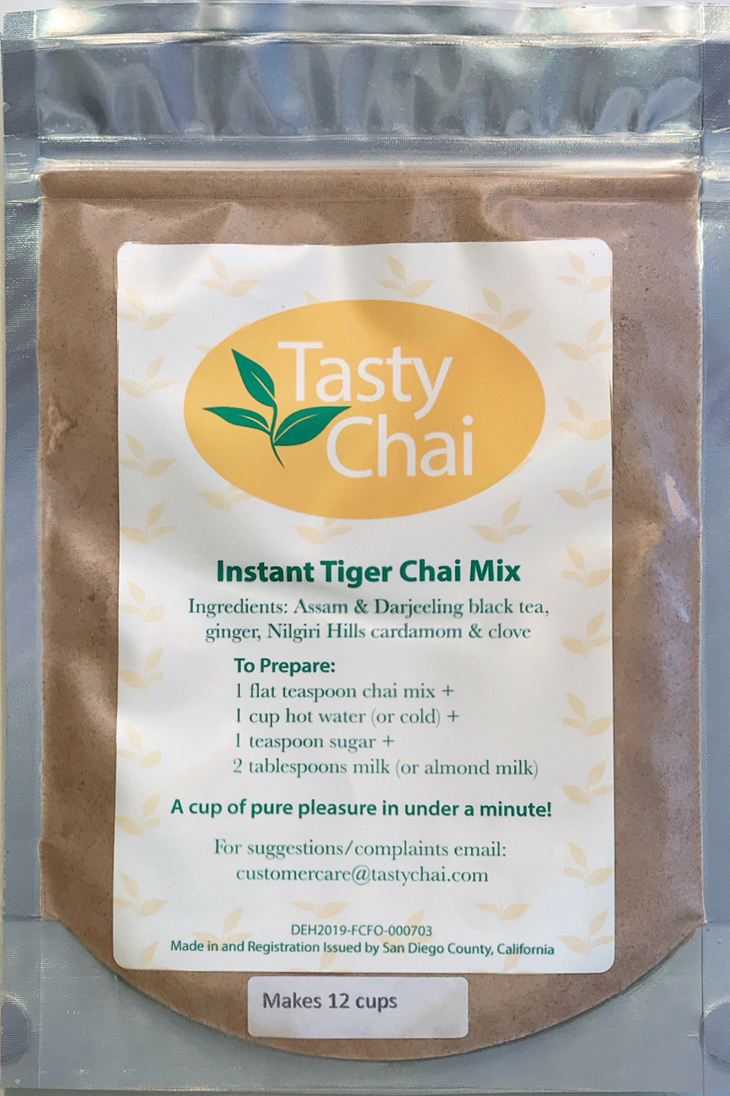 Tasty Chai's Tiger Chai 12 cup pack