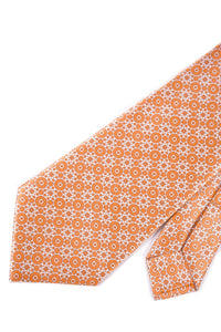STEFANO RICCI Tie orange pattern