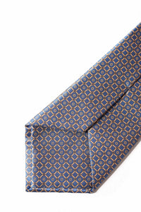 STEFANO RICCI Tie blue × brown pattern