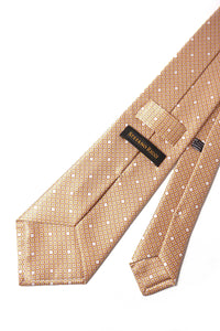 STEFANO RICCI Tie yellow × cream pattern