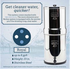 Royal Berkey - 12 Liters system.