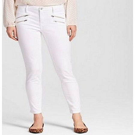 Mossimo Women's High Rise Skinny With Zipper Pockets