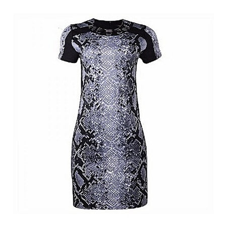 IMAN Knee Length Short Sleeve Dress
