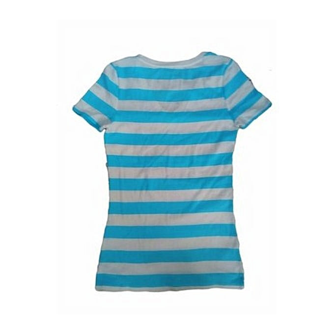 Merona Women's Ultimate Striped Scoop Tee Ebony Stripe