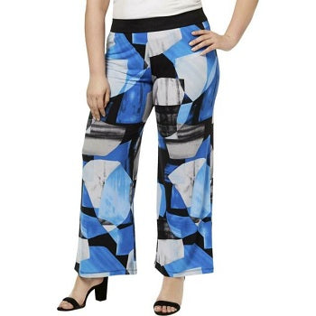 Alfani Womens Plus Printed  Palazzo Pants