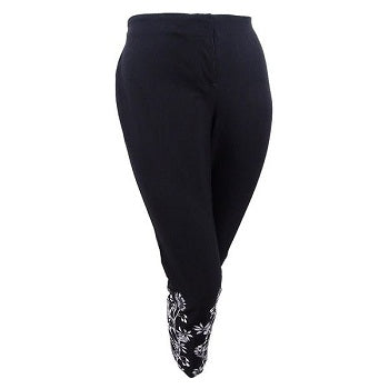 Alfani Women's Plus Size Printed-Cuff Pants