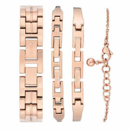 Anne Klein New York Ceramic Watch and 3 Bangle Set