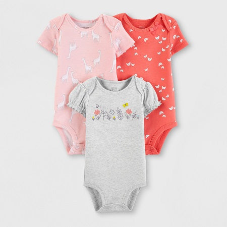 Carter's Baby Girls' 3 Pack Bodysuits
