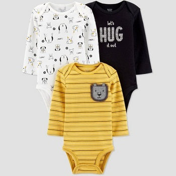 Carter's Baby Boys' 3pk Long Sleeve Bodysuits