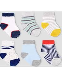 Carter's Baby Boys' 6 Pack Truck Crew Socks