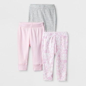 Cloud Island Baby Girls' 3pk Blushing Pants