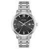 Bulova Men's Stainless Black Dial Watch