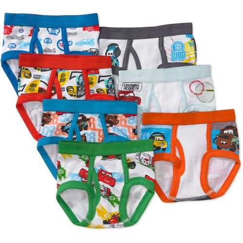Cars Toddler Boys' 7 Pack Underwear